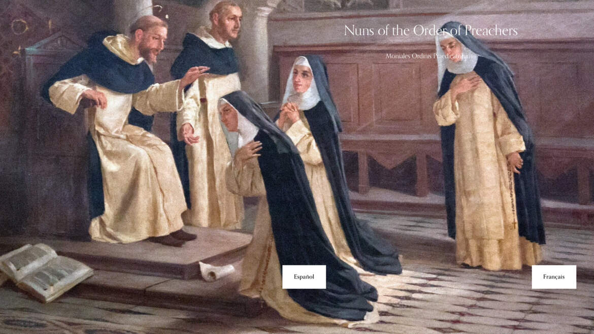 International website of Nuns