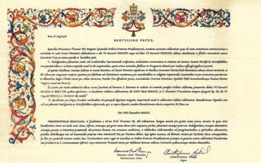 Decree granting the gift of the Plenary Indulgence on the occasion of the 800th anniversary of the Dies Natalis of Saint Dominic