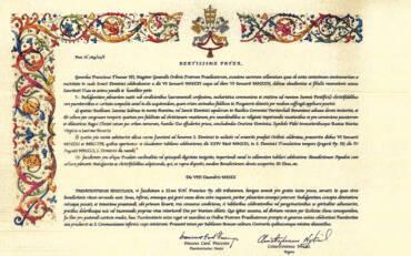 Decreto por el que se concede el don de la indulgencia plenaria con motivo del 800 aniversario del Dies Natalis de santo Domingo