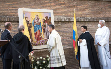 The Patroness of Colombia in the Vatican City Gardens